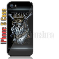USMC Dog Marine Corps Custom iPhone 5 Case Cover