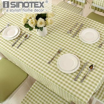 4 Color Lattice Party Table Cover Cloth  Plaid Tablecloth Yarn Dyed Plain Tablecloths Home Dining Room 1pcs/lot