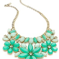 Kate Spade New York Gold-Tone Green Floral Statement Necklace
