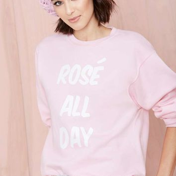 Nasty Gal x Private Party Rosé All Day Sweatshirt