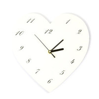 Room in Bloom Collection White Heart Clock | Dunelm Mill