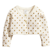 H&M - Dotted Bolero Jacket - Natural white - Kids