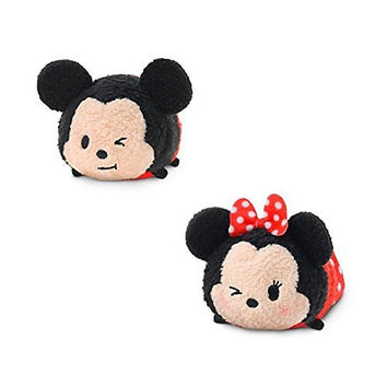 Mickey Mouse and Friends ''Tsum Tsum'' Mini Plush Collection Mickey Mouse and Minnie Mouse [Winking]