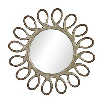 Clement Two-Tone Mirror Antique Silver Leaf,Champagne