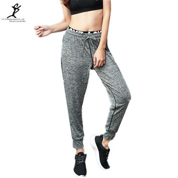 Women Running Pants Hot Elastic Waist Fitness And Sport Yoga Pants New Female Gym Workout Drawstring Sweatpants
