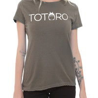 Studio Ghibli Her Universe My Neighbor Totoro Minimalist Name Girls T-Shirt