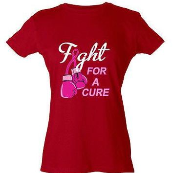 Fight For a Cure Survivor Breast Cancer Awareness Pink Ribbon Women's T-Shirt