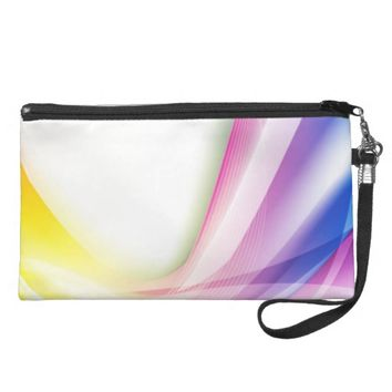 Abstract Swirl 1 Wristlet Purse