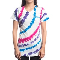 STRIPE DYE WOMENS TEE – HONEY BRAND