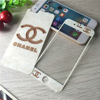 Fashion White Tempered Glass Screen Protecter for iPhone