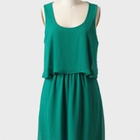 belle nuit tiered dress in green at ShopRuche.com
