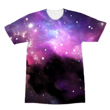 Black Smoky Galaxy American Apparel Sublimation T-Shirt