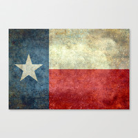 "The State flag of Texas - The ""Lone Star Flag"" of the ""Lone Star State"" Stretched Canvas by LonestarDesigns2020 - Flags Designs +"