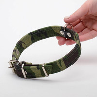 Leather designer dog collar coated with fabric Dog accessories Pet supplies