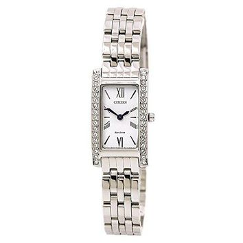 Citizen Ladies' Eco-Drive Stainless Steel Silhouette Crystal Watch