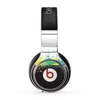 The Rainbow Paint Spatter Skin for the Beats by Dre Pro Headphones