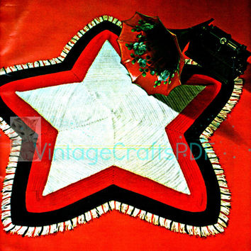 Digital Pattern • PdF • Afghan CROCHET Pattern • Vintage 1970s Star • Early Americana • American Flag Star • 4th of July • SIMPLE STICHES