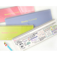2Young Wirebound simple long weekly desk planner