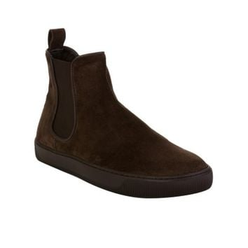 Moncler Brown Suede Boot
