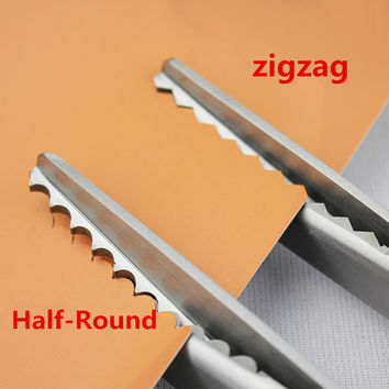 23.5cm Zig Zag Sewing Cut Dressmaking Tailor Shear Pinking Scissor Leather Craft Fabric Upholstery Tool Textile DENIM