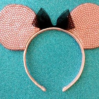 Custom Minnie Mouse Rhinestone Ears