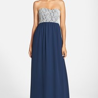 Women's Paper Crown by Lauren Conrad 'Breanna' Lace Bodice Crepe Gown,