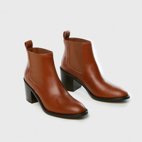 Heeled Chelsea Boot - Saddle