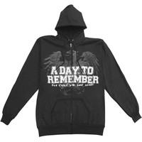 A Day To Remember Men's  Zippered Hooded Sweatshirt Black