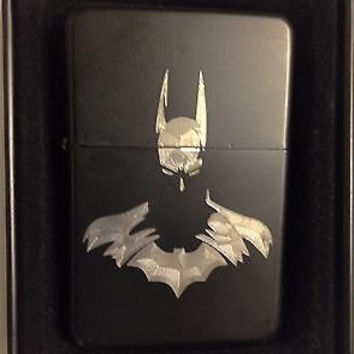 Batman Arkham Black Gift Engraved Cigarette Lighter The Dark Knight
