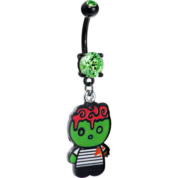Green Purple Hair Zombie Boy Belly Ring