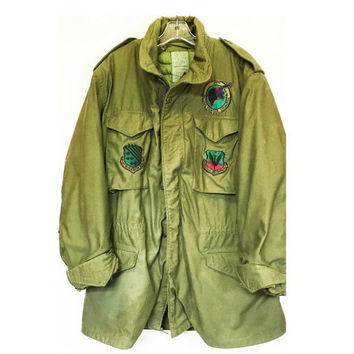 Vintage US Air Force Field Jacket, 27th Tactical Fighter Squadron, Size M