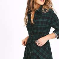 Drive To The Harbor Plaid Dress