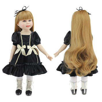 New design 18 inch American Girl Doll With Beautiful Clothes And Shoes Reborn Full Vinyl Silicone Girl Doll Realistic Baby Toys