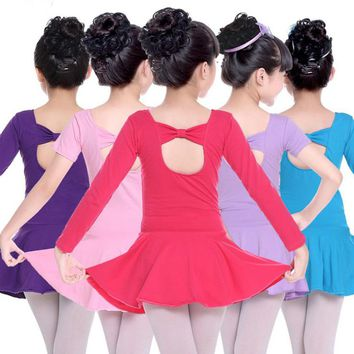Child Ballerina Bowknot Ballet Dress Dance Leotards Gymnastics Tutu for Girls Kid Dance Costumes Dancing Clothes Dancer Clothing