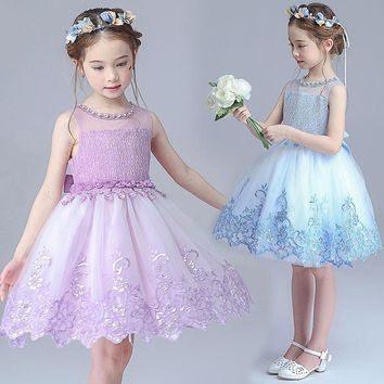 Summer girl child clothing girls princess wedding evening dress costume party tutu dress toddler clothes party dresses size 12