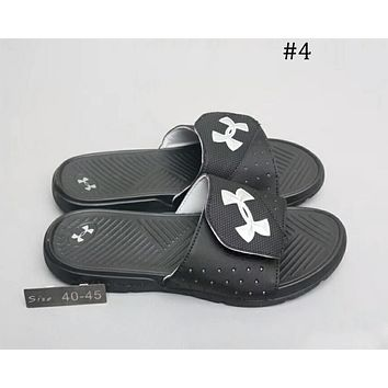 UA UNDER ARMOUR cushioning sports slippers beach shoes sandals F-A0-HXYDXPF #5