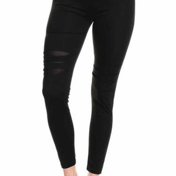 Distress Call Black Yoga Pants
