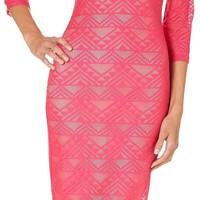 LOVE, FIRE Juniors Aztec Lace Dress