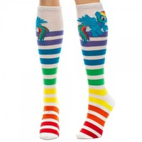 My Little Pony Rainbow Dash Stripes Knee High Socks - My Little Pony - | TV Store Online