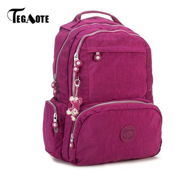TEGAOTE Backpack Women School Backpacks for Teenage Girls Bookbag Mochila Feminina Escolar Nylon Travel Bagpack Female Sac A Dos