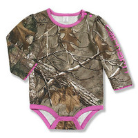 Dark Brown & Pink Woodland Realtree Xtra® Camo Bodysuit - Infant | zulily