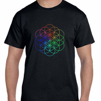 Coldplay A Head Full Of Dreams Logo Colorize Mens T Shirt