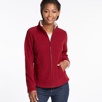 Women's Soft-Brushed Cable Fleece   Free Shipping at L.L.Bean