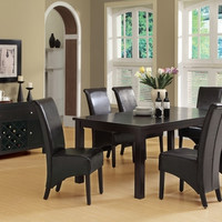 "Dark Espresso 40""X 60""X 78"" Veneer Top Dining Table"