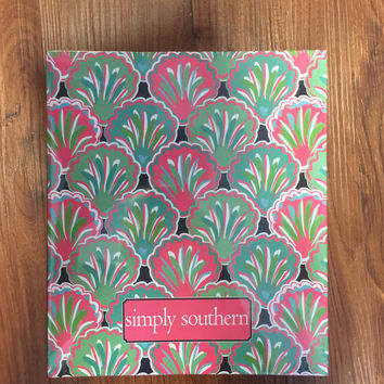 Simply Southern Notebook with Paper- Shell