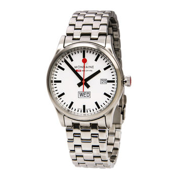 Mondaine A667.30308.16SBM Men's Official Swiss Railway Sport Day Date Watch