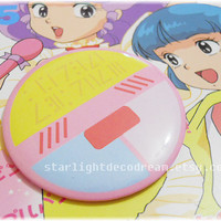 "Magical Angel Creamy Mami Inspired 3"" Button Pin for Fairy Kei, Mahou Kei, Magical Girl Fashion"