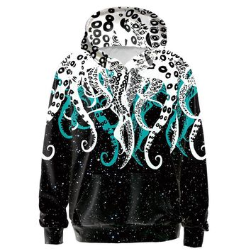 Octopus Tentacles All Over Print Hoodie Sweater