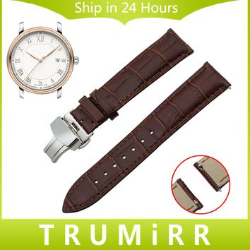 Quick Release Watchband Genuine Leather Strap for Montblanc Men Women Watch Band Butterfly Buckle Wrist Bracelet 18mm 20mm 22mm