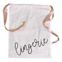 SATIN DRAWSTRING LINGERIE BAG